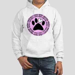 Spay neuter BIGGER PINK Hooded Sweatshirt