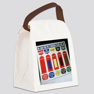Fire extinguisher codes Canvas Lunch Bag