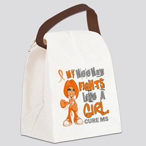 D Mee Maw Fights Like Girl MS 42. Canvas Lunch Bag