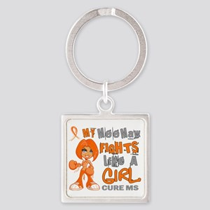 D Mee Maw Fights Like Girl MS 42.9 Square Keychain