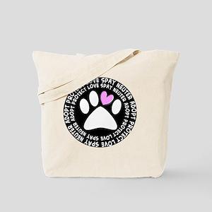 spay neuter adopt BLACK OVAL Tote Bag