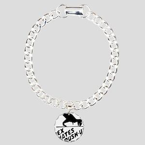 T-Rex Hates Push-Ups Charm Bracelet, One Charm