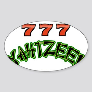 777 Yahtzee Sticker (Oval)