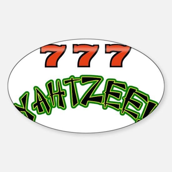 777 Yahtzee Sticker (Oval)