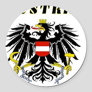 Austria coat of arms Round Car Magnet
