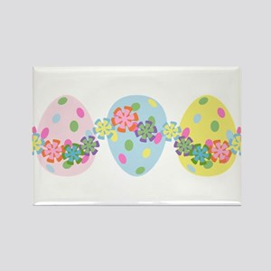 Easter Eggs 'N Garland Rectangle Magnet