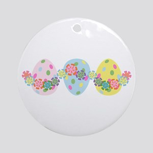 Easter Eggs 'N Garland Ornament (Round)