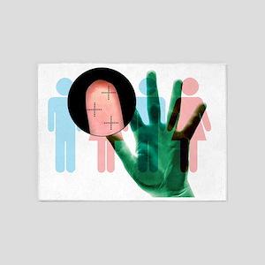 Fingerprint biometrics 5'x7'Area Rug