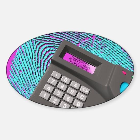 Fingerprint scanner Sticker (Oval)