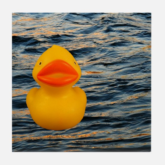 Duckie on the Water Tile Coaster
