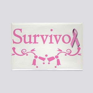 Survivor (Breast Cancer) Rectangle Magnet