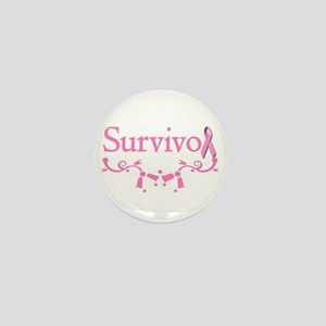 Survivor (Breast Cancer) Mini Button