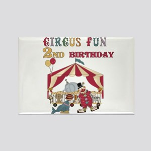 Circus Fun 2nd Birthday Rectangle Magnet