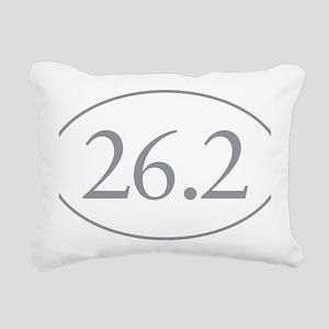 26.2 Marathon Distance Rectangular Canvas Pillow