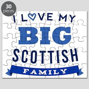 I Love My Big Scottish Family Puzzle