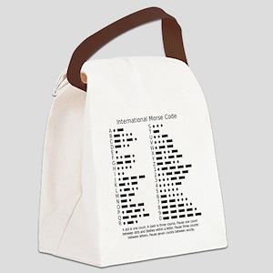 International Morse Code Survival Canvas Lunch Bag