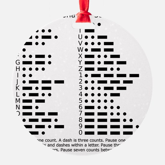 International Morse Code Survival G Ornament