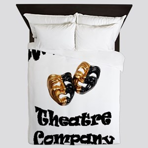 Black UW-Parkside Theatre Company lett Queen Duvet