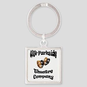 Black UW-Parkside Theatre Company  Square Keychain