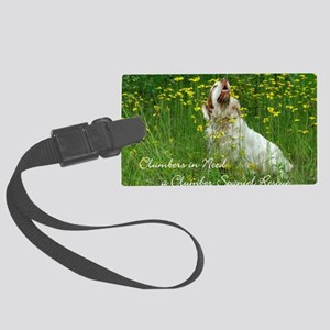 Clumber Spaniel Wall Calendar Large Luggage Tag