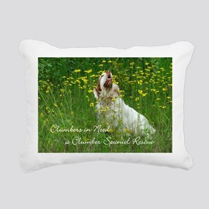 Clumber Spaniel Wall Cal Rectangular Canvas Pillow