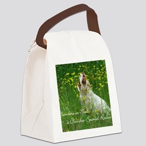 Clumber Spaniel Wall Calendar Canvas Lunch Bag