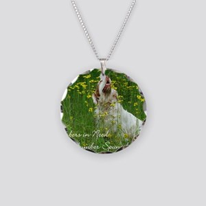 Clumber Spaniel Wall Calenda Necklace Circle Charm
