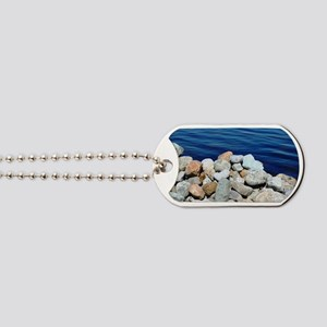 Water and Rocks Dog Tags