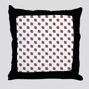 Polka-Nuts Throw Pillow