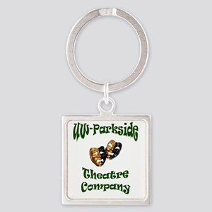 Green UW-Parkside Theatre Company  Square Keychain