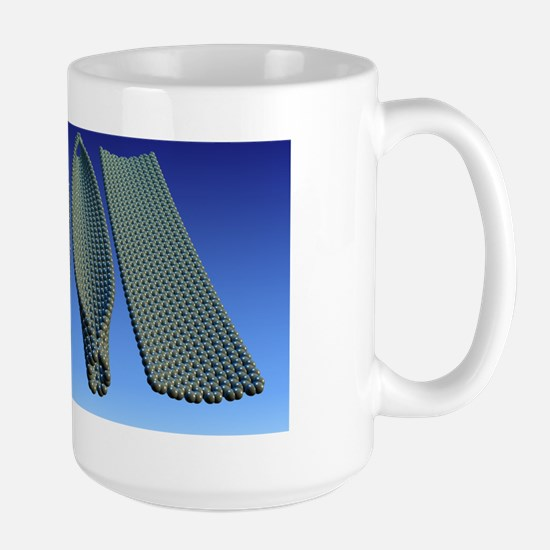 Graphene production, artwork Large Mug