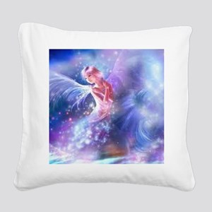 Angel Square Canvas Pillow