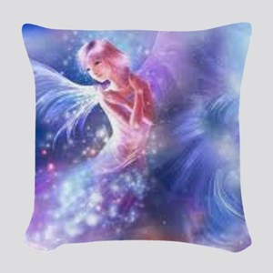 Angel Woven Throw Pillow