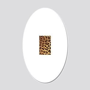 Leopard Print 20x12 Oval Wall Decal