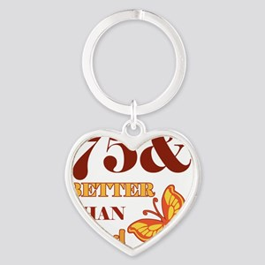 75 And Better Than Ever! Heart Keychain