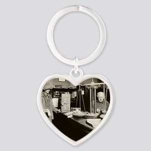 Gold Rush offices of Wells-Fargo Co Heart Keychain