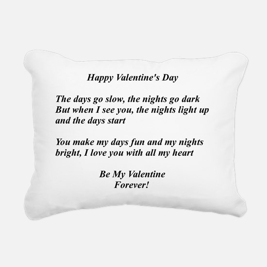 Valentine Day Rectangular Canvas Pillow