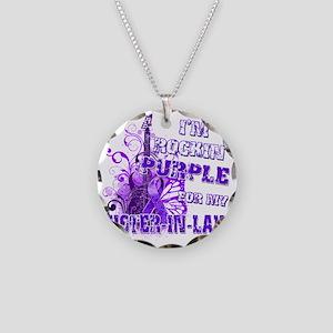 Im Rockin Purple for my Sist Necklace Circle Charm