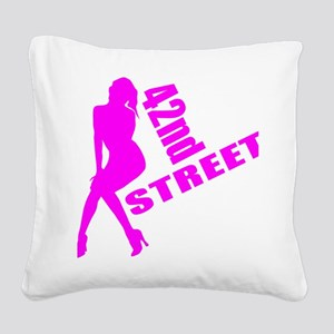 42nd Street Square Canvas Pillow