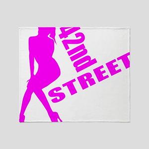 42nd Street Throw Blanket