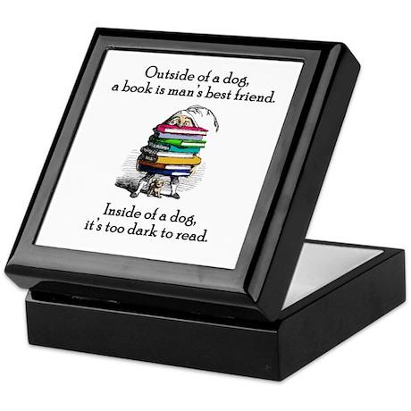 A Book is Man's Best Friend Keepsake Box