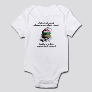 A Book is Man's Best Friend Infant Bodysuit