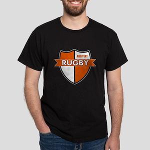 Rugby Shield White Orange Dark T-Shirt