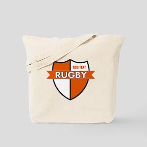 Rugby Shield White Orange Tote Bag