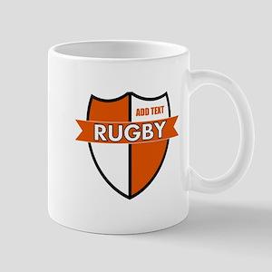 Rugby Shield White Orange Mug
