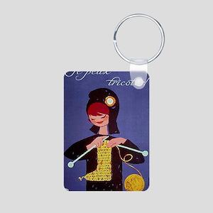 french knitter Aluminum Photo Keychain