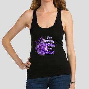 Im Rockin Purple for Myself Racerback Tank Top