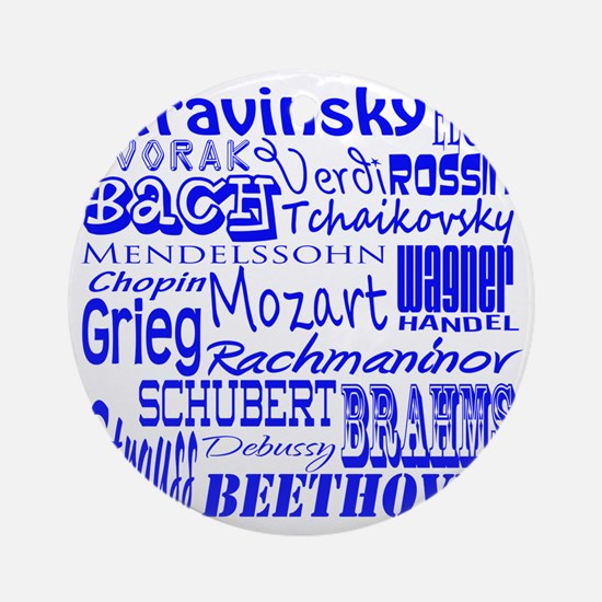 Classical Composers Round Ornament