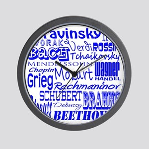 Classical Composers Wall Clock