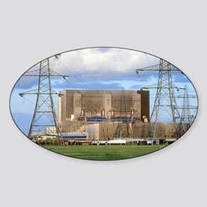 Hartlepool nuclear power station Sticker (Oval)